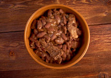 Bowl of boston baked beans Royalty Free Stock Photo