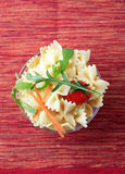 Bowl of bowtie pasta Stock Photo