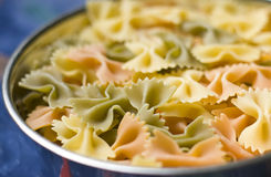 Bowl of bowtie pasta Royalty Free Stock Photos