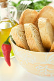 Bowl of bread Royalty Free Stock Image
