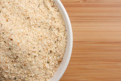 Bowl of Breadcrumbs Stock Images