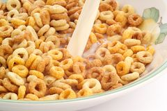 Bowl of breakfast cereal Stock Images