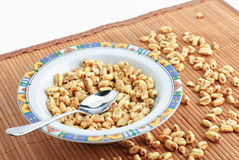 Bowl of breakfast cereal Royalty Free Stock Photo