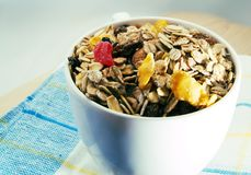 Bowl of breakfast cereals Stock Image