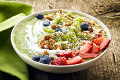 Bowl of breakfast smoothie Royalty Free Stock Photography