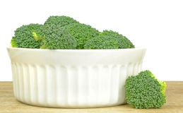 A Bowl of Broccoli Stock Image