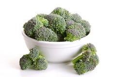 Bowl of broccoli Stock Photos