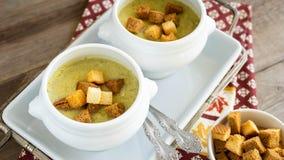 Bowl of Broccoli Soup stock photos