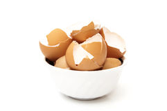 Bowl with broken egg Royalty Free Stock Images