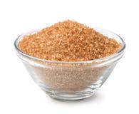Bowl of brown cane sugar Royalty Free Stock Photo