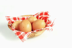 Bowl with brown egg Royalty Free Stock Photo
