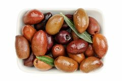 Brown olives Royalty Free Stock Image