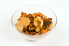 Bowl of brown potpourri Royalty Free Stock Image