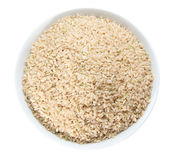 Bowl of Brown Rice Stock Image