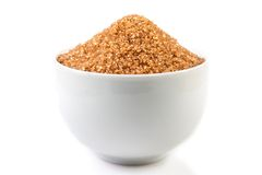 Bowl with brown sugar Royalty Free Stock Image