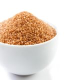 Bowl with brown sugar Royalty Free Stock Photos