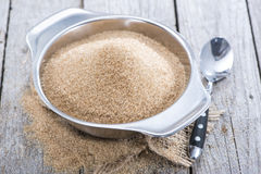 Bowl with Brown Sugar Royalty Free Stock Images