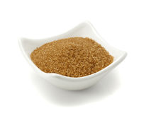 Bowl of brown sugar isolated Stock Image