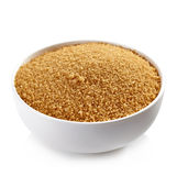 Bowl of brown sugar Royalty Free Stock Photos