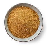 Bowl of brown sugar Stock Photos