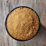 Bowl of brown sugar Stock Photo