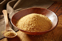 Bowl of brown sugar Stock Photography