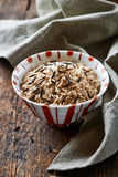Bowl of brown and wild rice Royalty Free Stock Photo