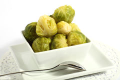 Bowl of brussels sprouts Stock Image