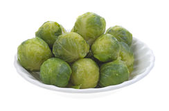 Bowl of Brussels sprouts Stock Photos