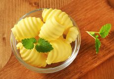 Bowl of butter curls Royalty Free Stock Photo