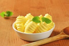 Bowl of butter curls Stock Photography