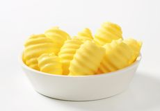 Bowl of butter curls Royalty Free Stock Photography