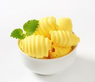 Bowl of butter curls Stock Photo