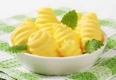 Bowl of butter curls Stock Image