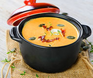 Bowl of Butternut Squash Soup Royalty Free Stock Image