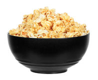 Bowl of buttery popcorn isolated Stock Photo