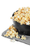 Bowl of buttery popcorn isolated Royalty Free Stock Image