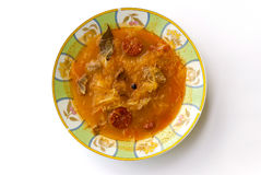 Bowl of cabbage soup Stock Images