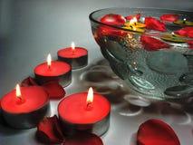 bowl candles flowers spa ύδωρ Στοκ εικόνες με δικαίωμα ελεύθερης χρήσης
