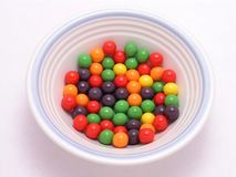 Bowl of Candy Stock Photo