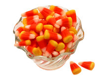 Bowl of Candy Corn Stock Images