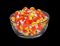 Bowl of Candy Corn Stock Photo