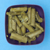 Bowl of Canned Asparagus Royalty Free Stock Image