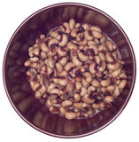 Bowl of Canned Black Eyed Peas Stock Photos