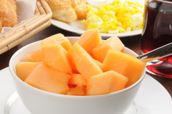 Bowl of cantaloupe Royalty Free Stock Photo