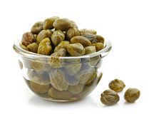 Bowl of capers Royalty Free Stock Photo