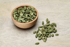Bowl of Cardamoms Royalty Free Stock Photos
