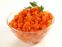Bowl of carrot, isolated Stock Photography