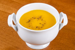 Bowl of Carrot Soup Royalty Free Stock Photos