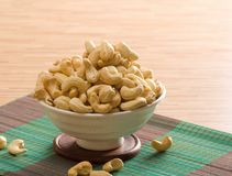 Bowl of cashew nuts. Bowl of roasted cashew nuts stock photo